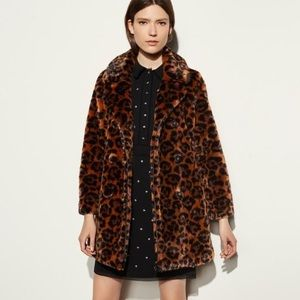NEW 🔥 COACH Wild Beast Faux Fur Leopard Coat
